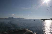 Looking back towards Arran on the sail home